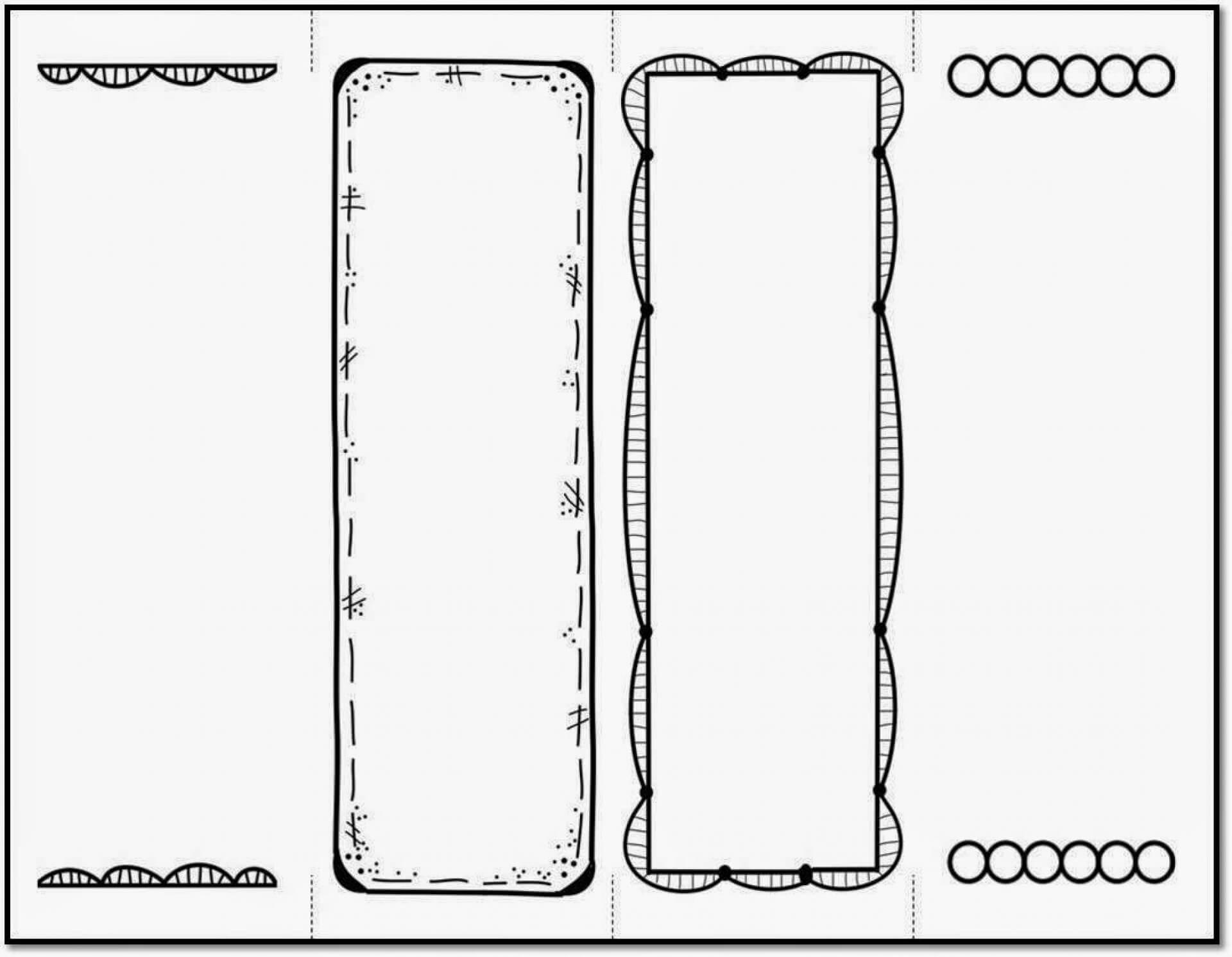 022 Template Ideas Free Bookmarks Beautiful Fresh Printable Regarding Free Blank Bookmark Templates To Print