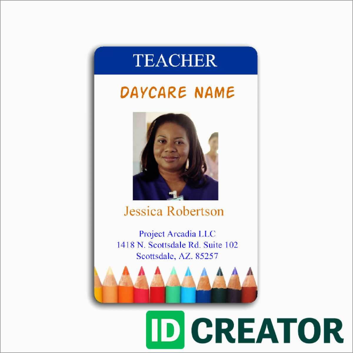 023 Teacher Id Card Photoshop Template Ideas Free Great With Regard To Teacher Id Card Template