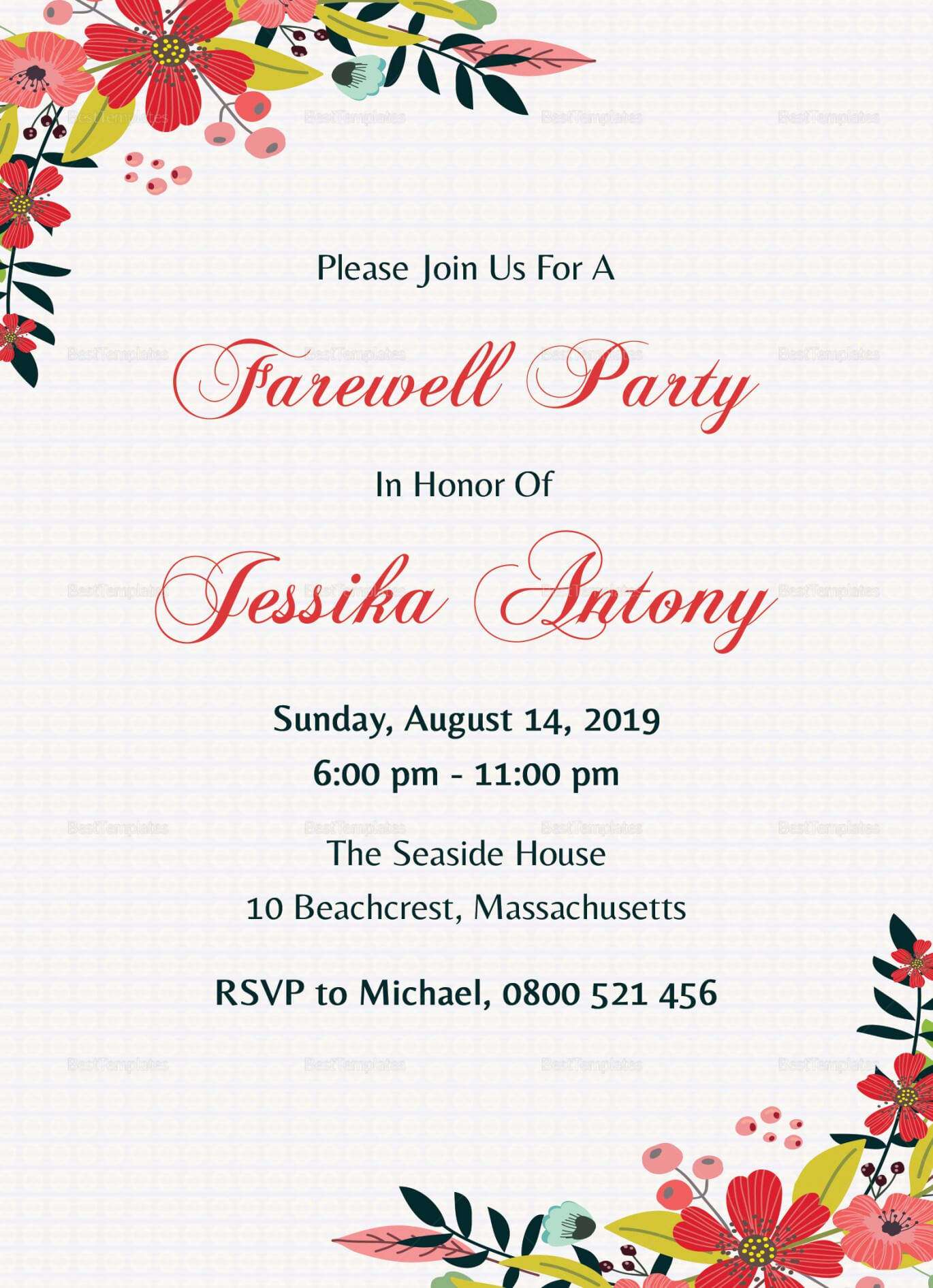 023 Template Ideas Farewell Invitation Free Party Throughout Farewell Invitation Card Template