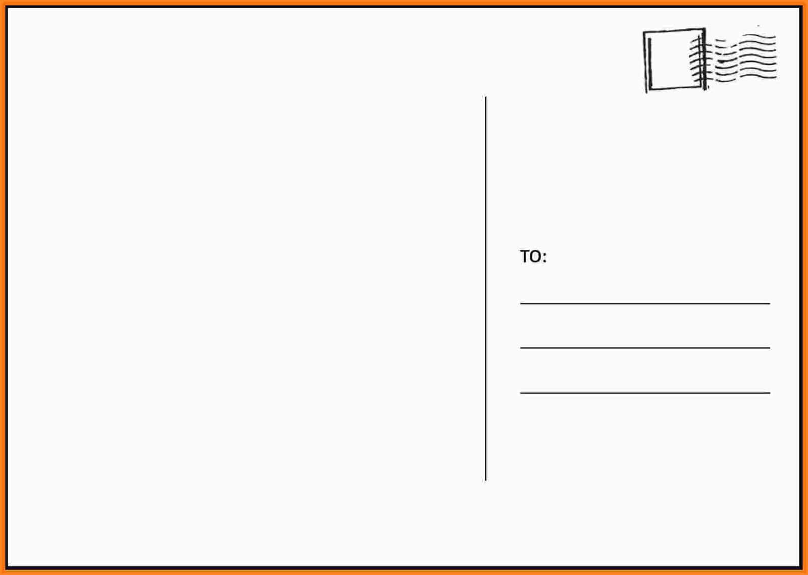 025 Blank Postcard Template Free Printable Religious In Microsoft Word 4X6 Postcard Template