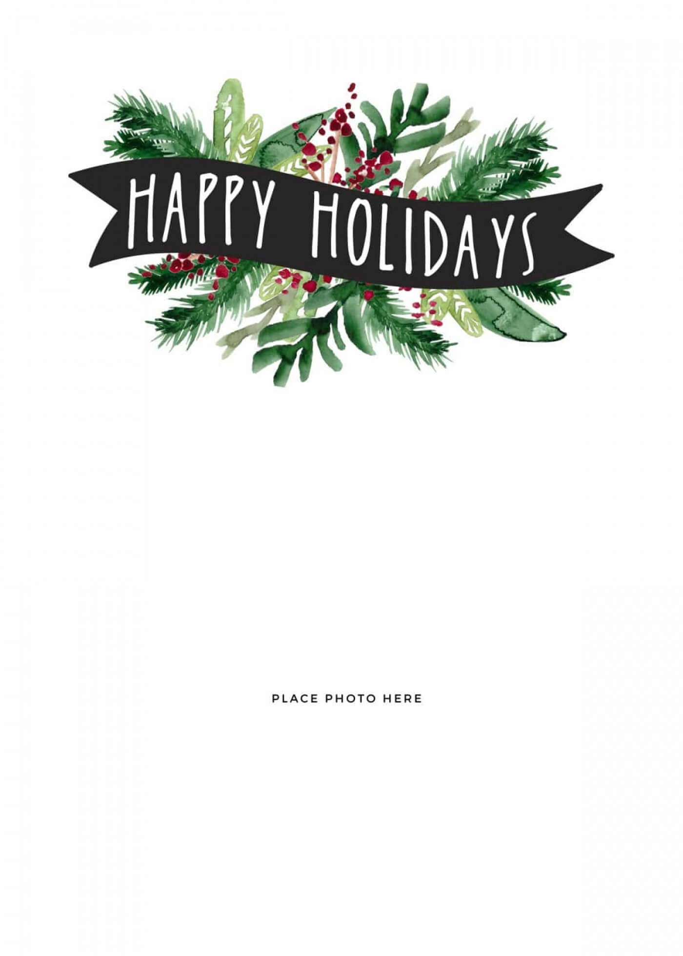 027 Template Ideas Free Holiday Card Templates For Photoshop With Regard To Free Holiday Photo Card Templates