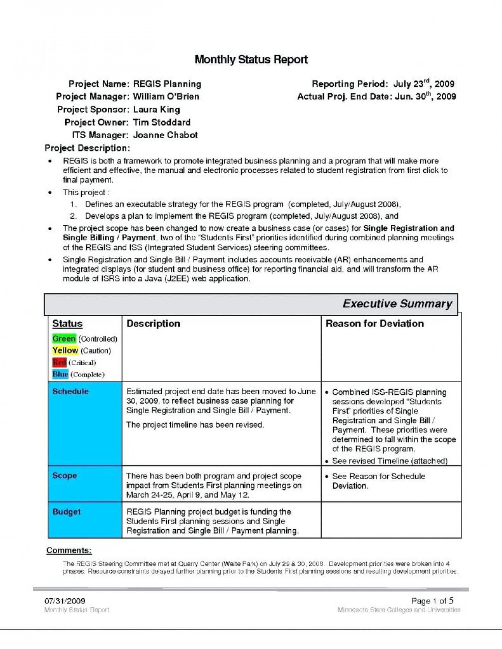 028 Project Management Executive Summary Template For Project Management Final Report Template