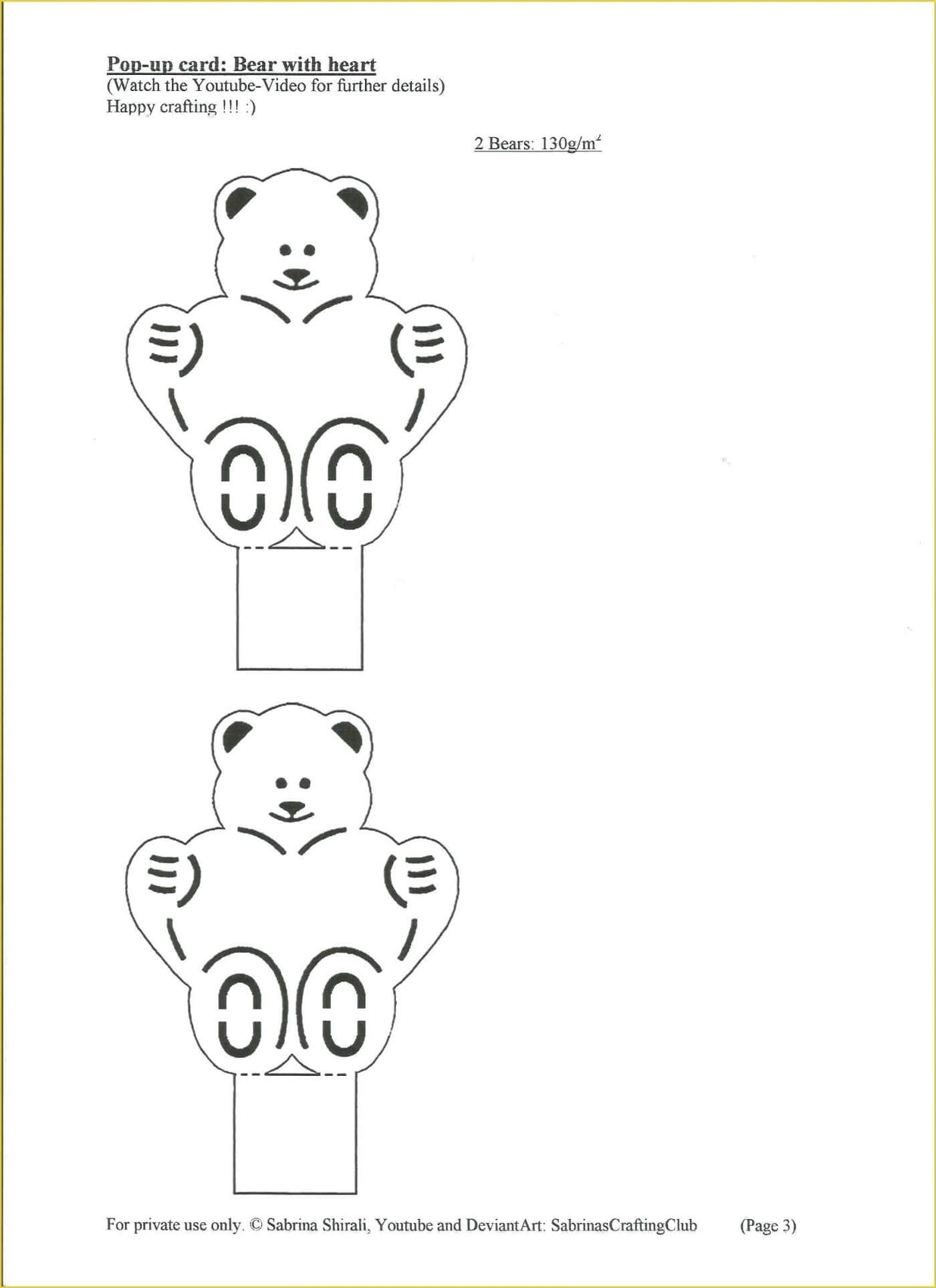 028 Template Ideas Pop Up Cards Templates Free Diy Printable Regarding Teddy Bear Pop Up Card Template Free