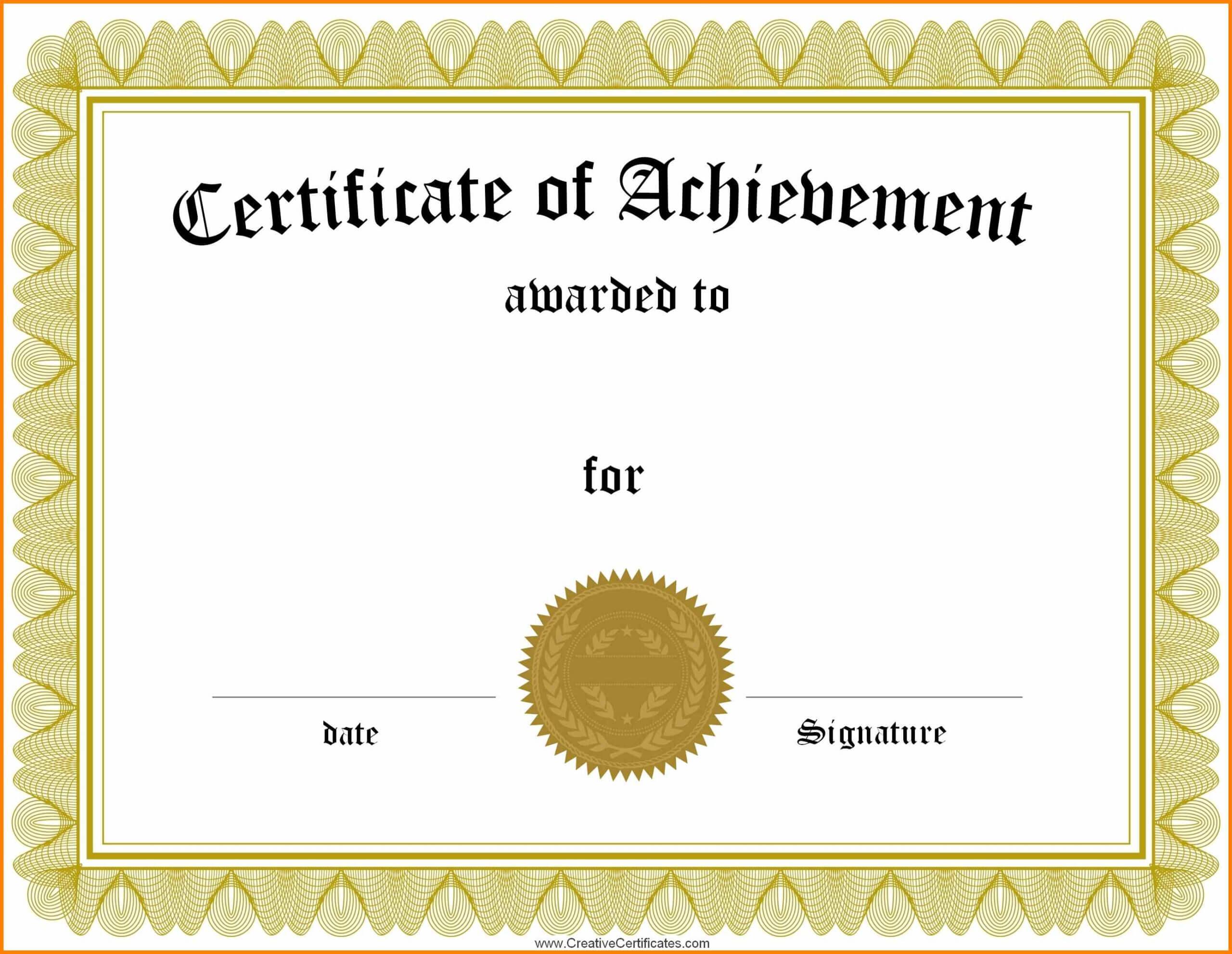 029 Generic Certificate Template Martial Arts Templates Within Generic Certificate Template