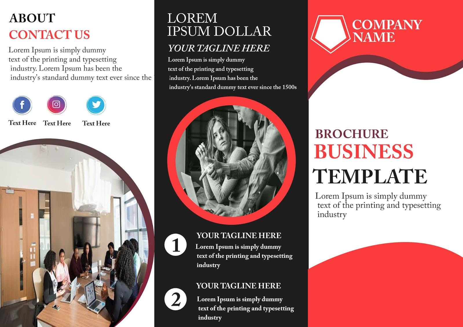 029 Template Ideas Three Fold Brochure Free Tri Inside Free Three Fold Brochure Template