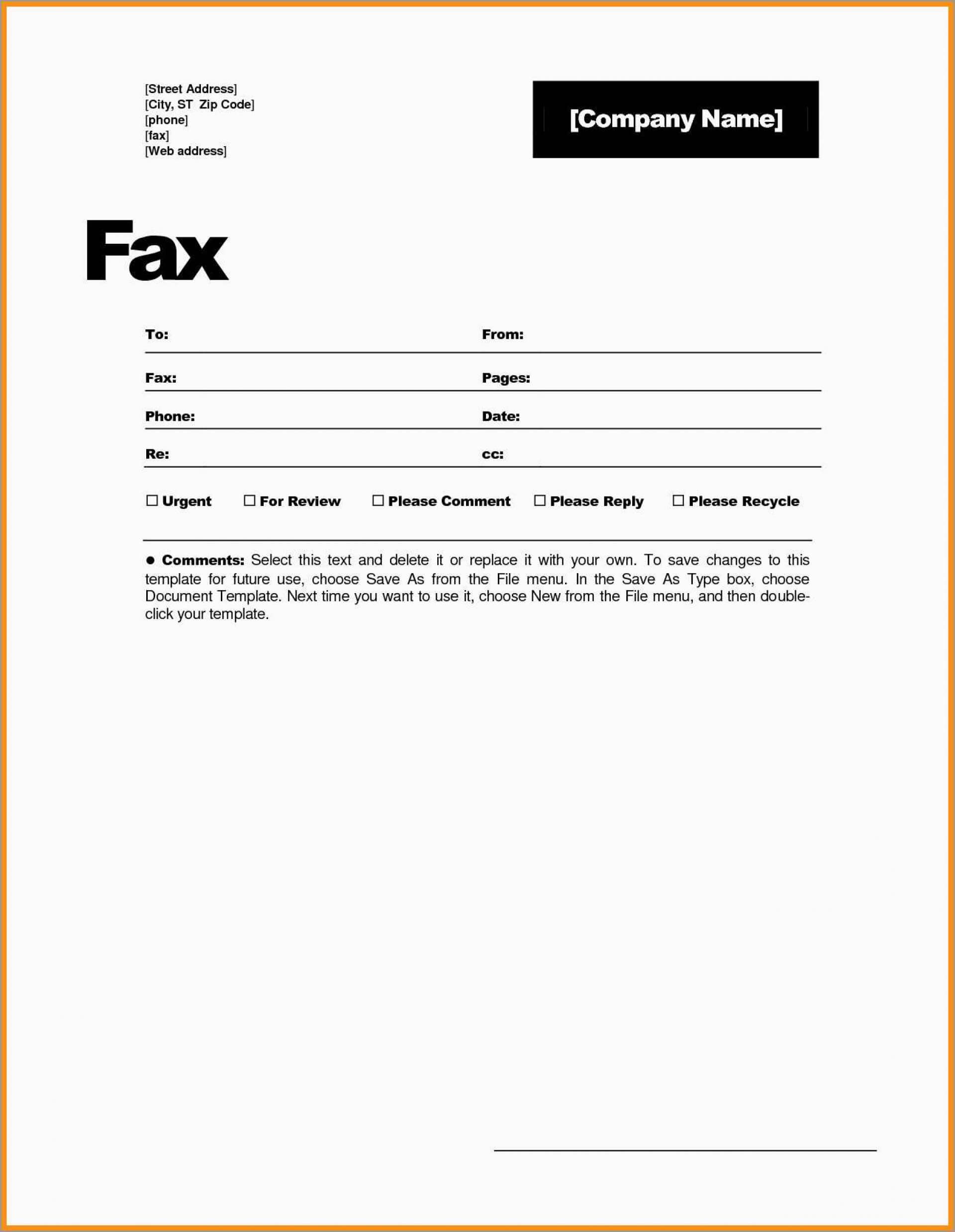 030 Fax Cover Sheet Template Free Word Stupendous Ideas Page With Fax Template Word 2010