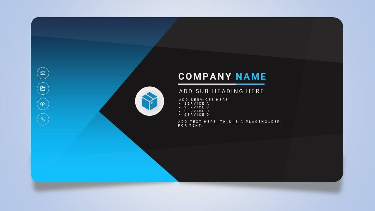 030 New Pictures Of Business Card Template Powerpoint Free Intended For Business Card Template Powerpoint Free