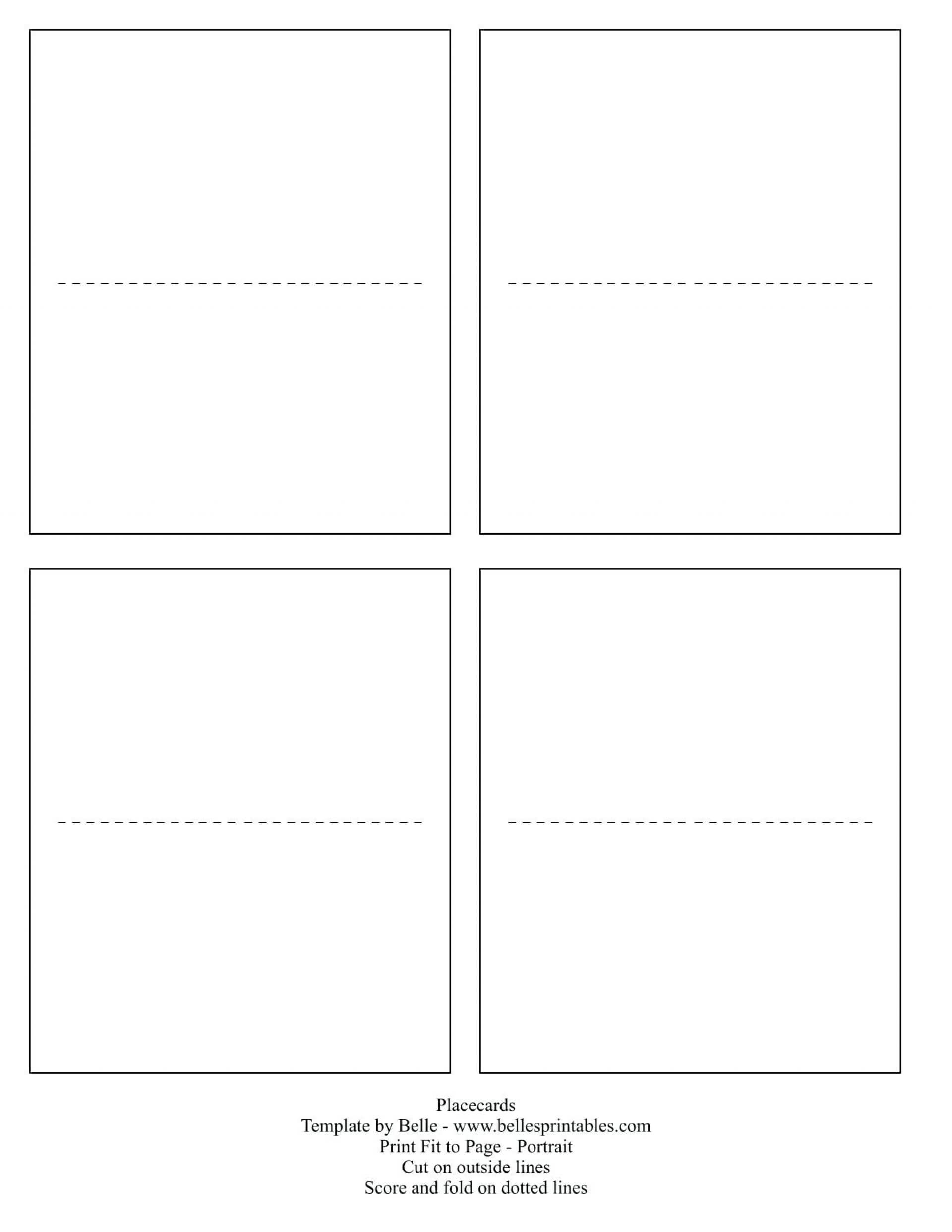 030 Printable Place Cards Template Ideas Breathtaking Free Inside Fold Over Place Card Template