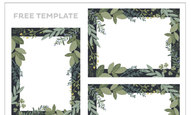Place Card Template Free 6 Per Page - Professional Template