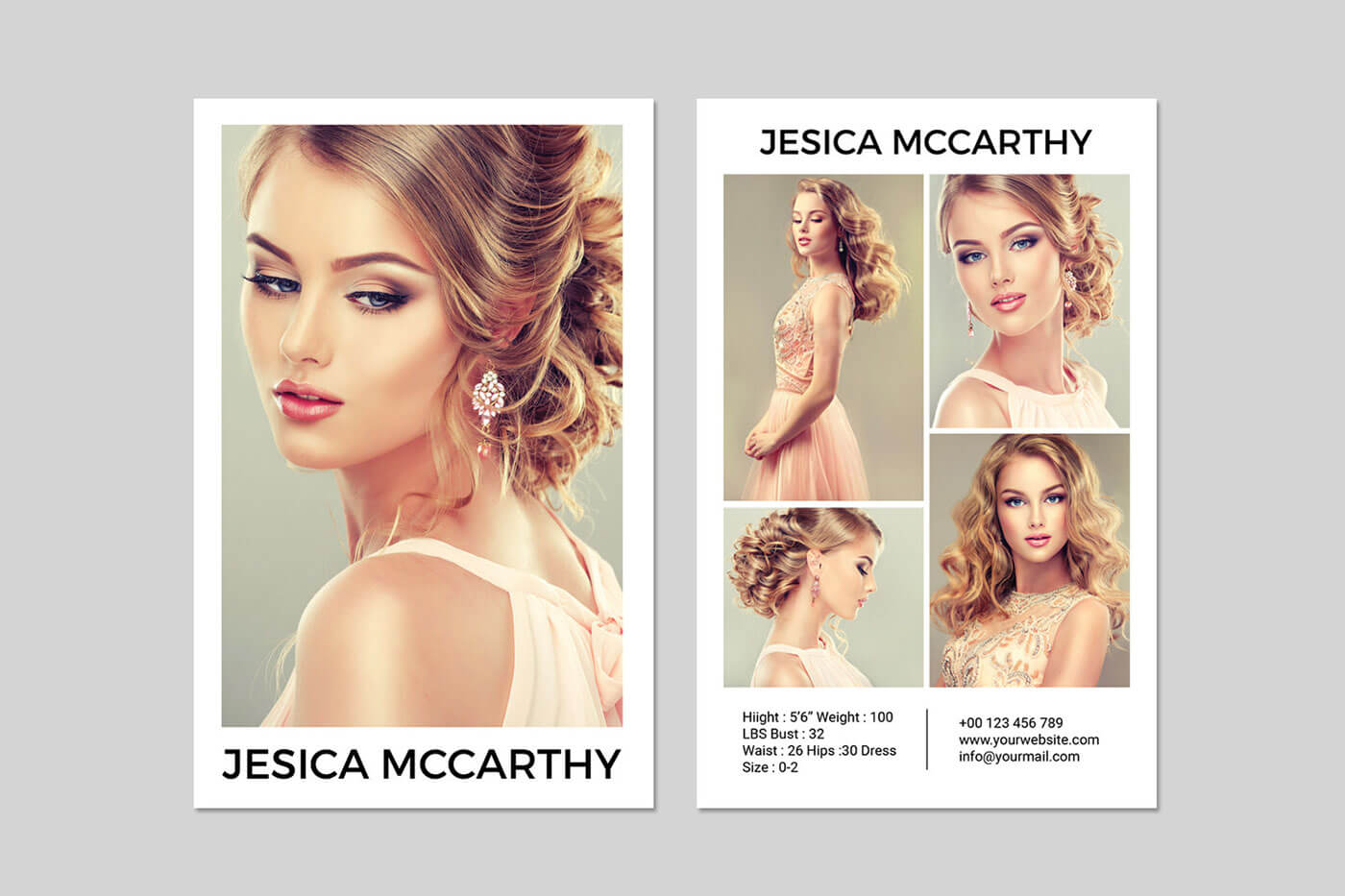 031 Model Comp Card Template Outstanding Ideas Psd Free Throughout Comp Card Template Psd