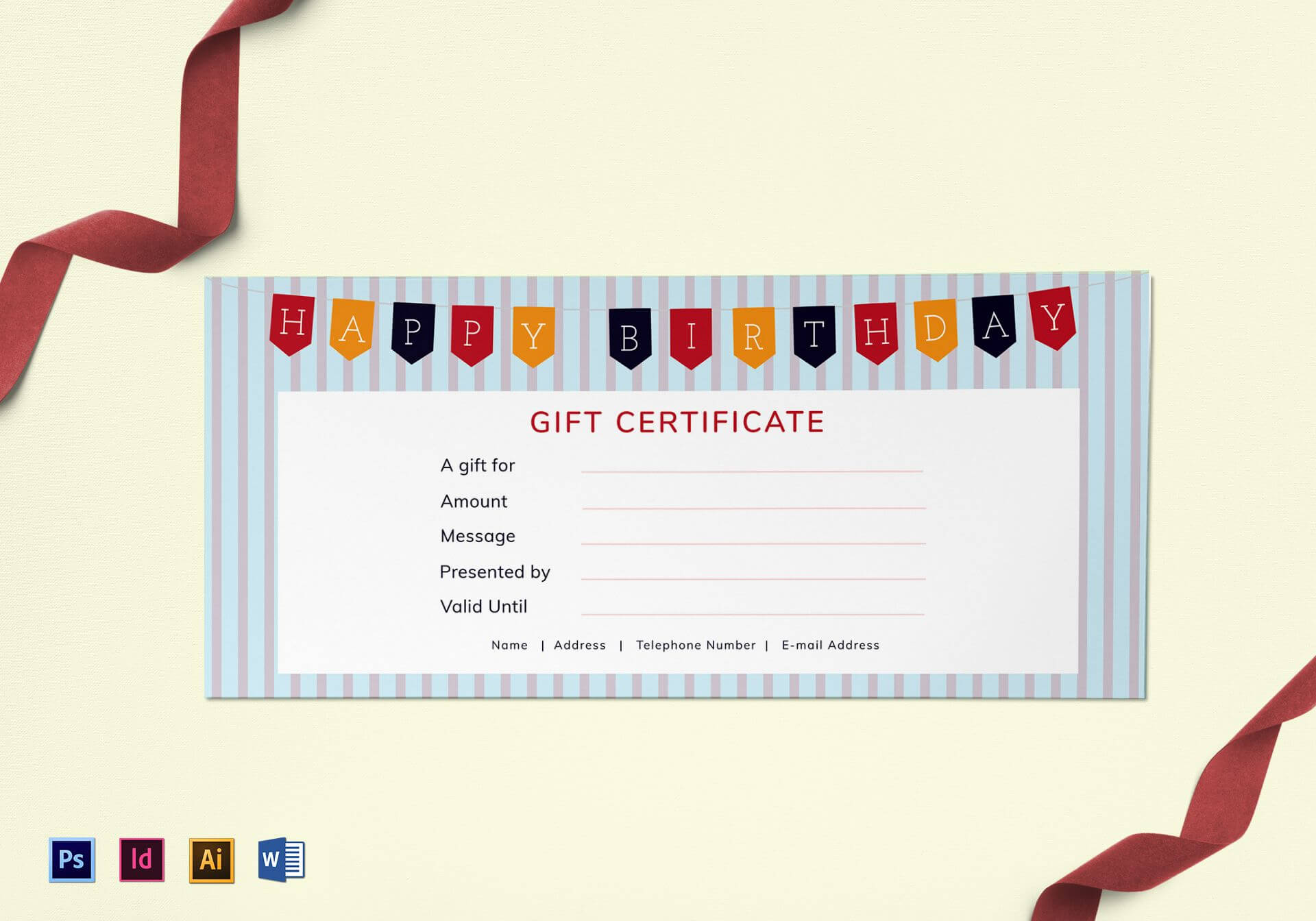 032 Template Ideas Free Silent Auction Gift Certificate In Mock Certificate Template