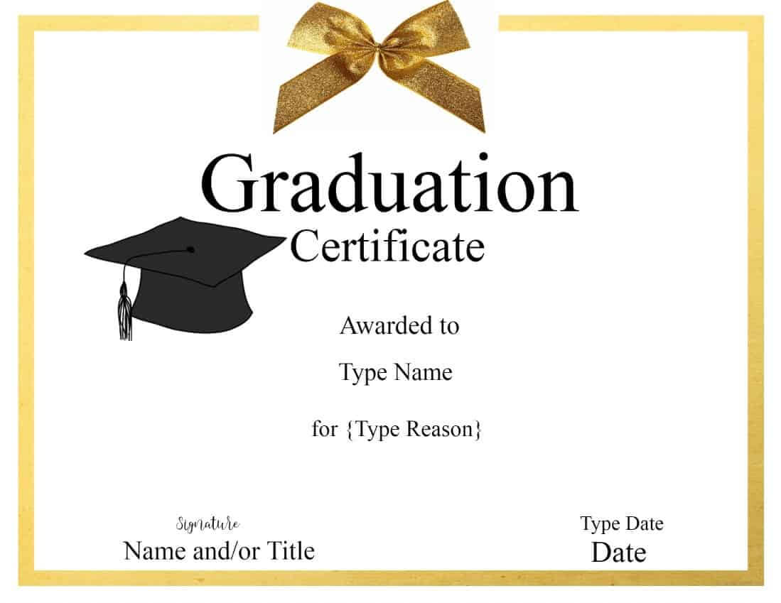 032 Template Ideas Graduation Certificate Free Birthday Pertaining To Graduation Gift Certificate Template Free