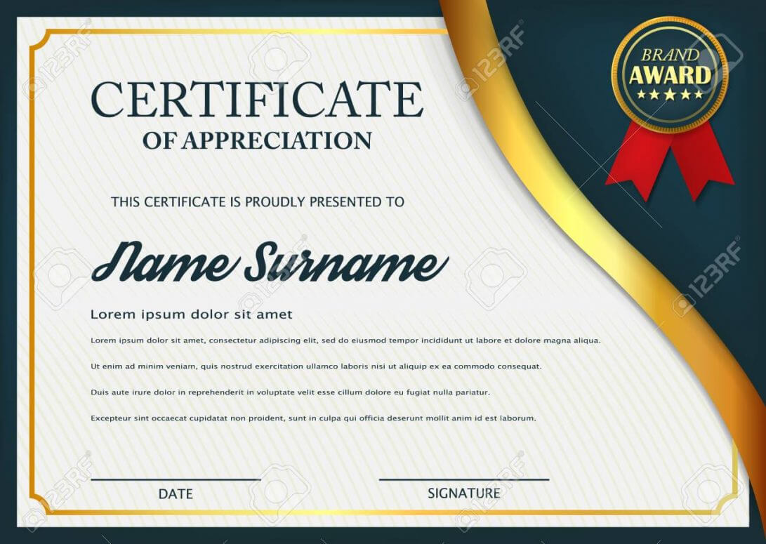 034 Certificate Of Appreciationtes Free Download With Powerpoint Award Certificate Template