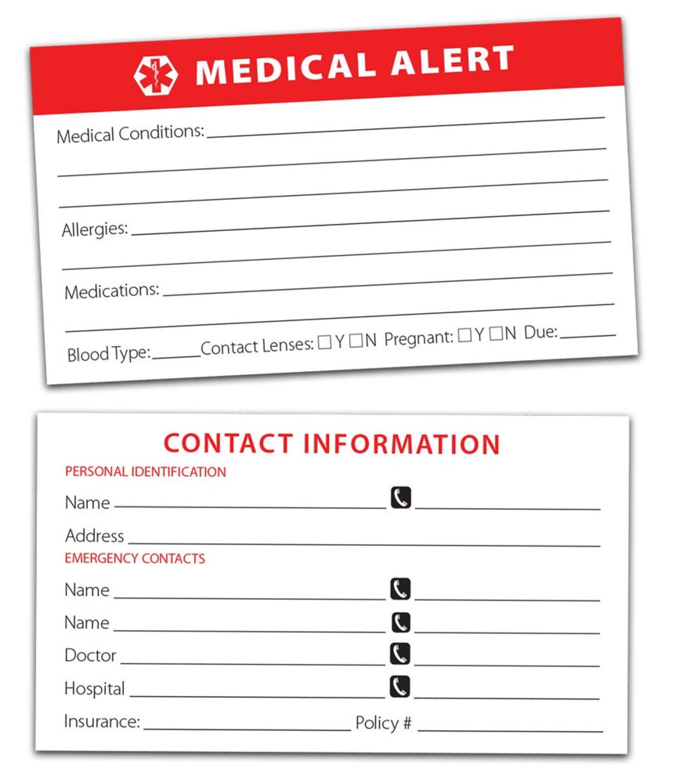 035 Psd Business Card Templates Medical Wallet Template Within Medical Alert Wallet Card Template