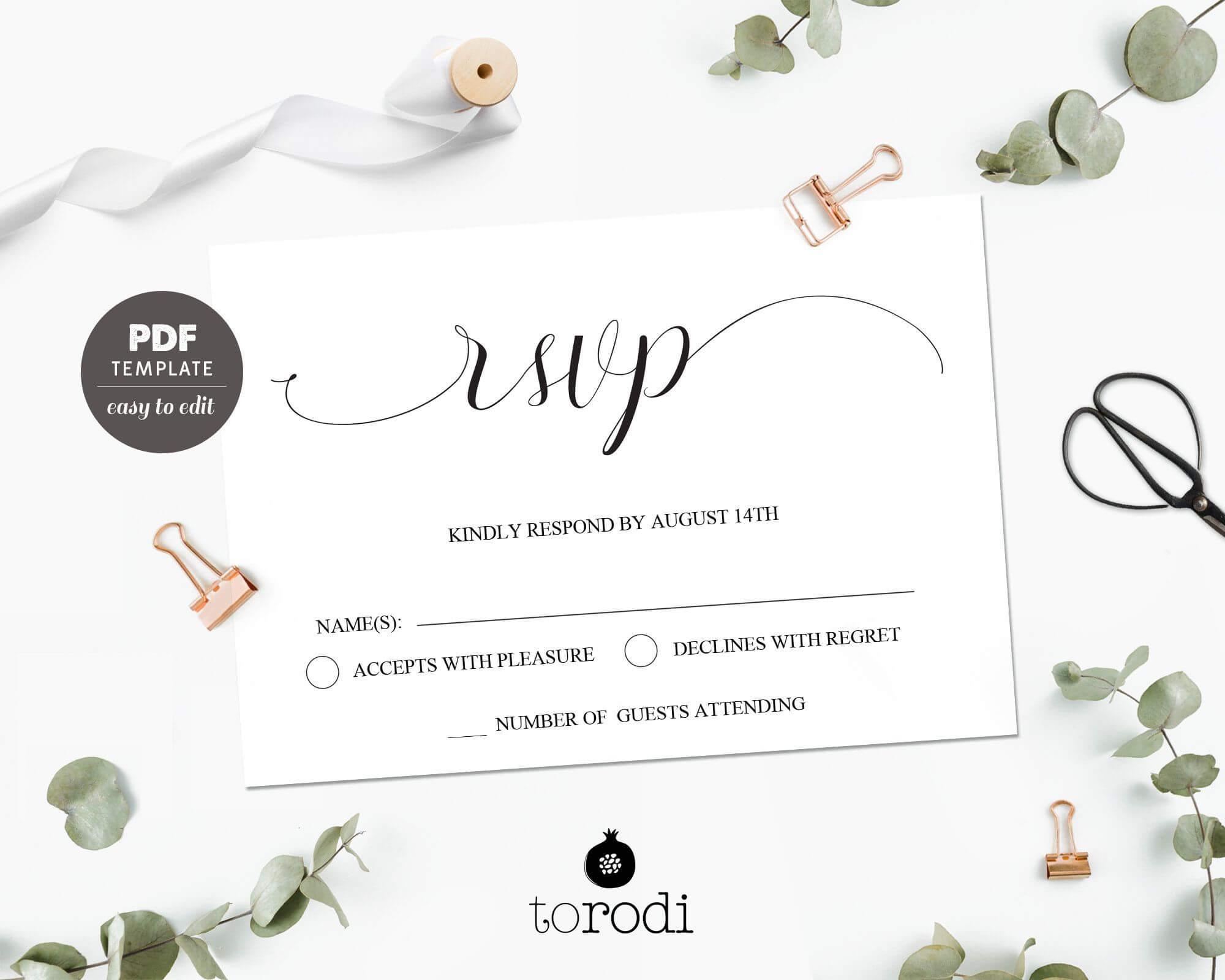 039 Wedding Rsvp Cards Templates Free Card Inspirational Within Free Printable Wedding Rsvp Card Templates