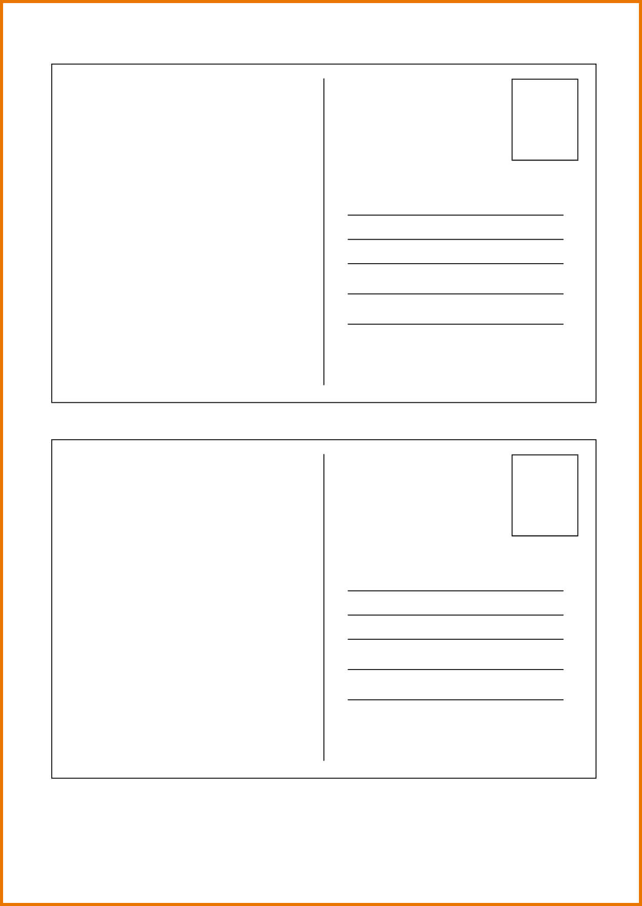 040 Blank Postcard Template Free Vintage With Stamps Vector Pertaining To Microsoft Word 4X6 Postcard Template