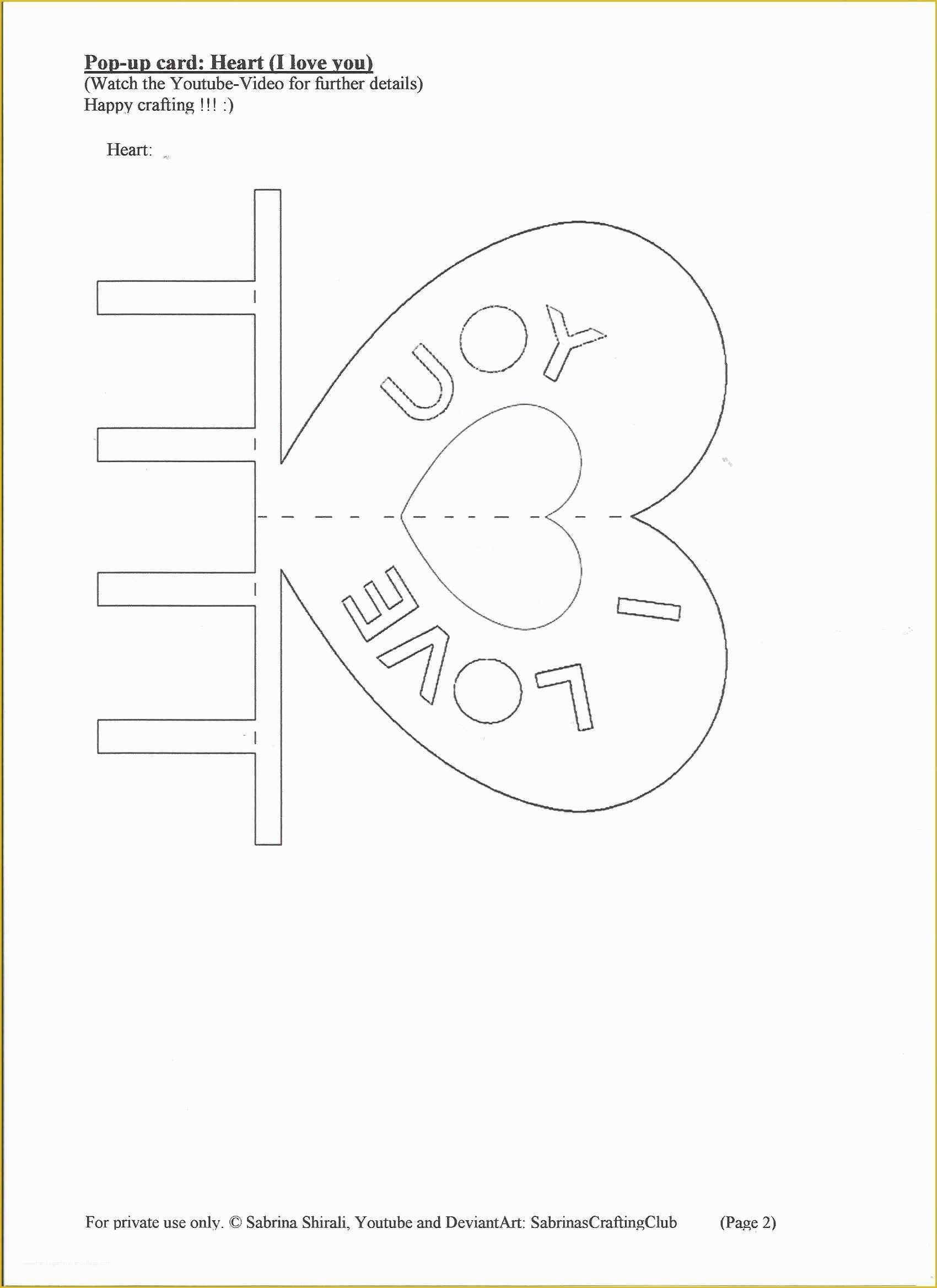 044 Template Ideas Pop Up Cards Templates Card Free Download In I Love You Pop Up Card Template