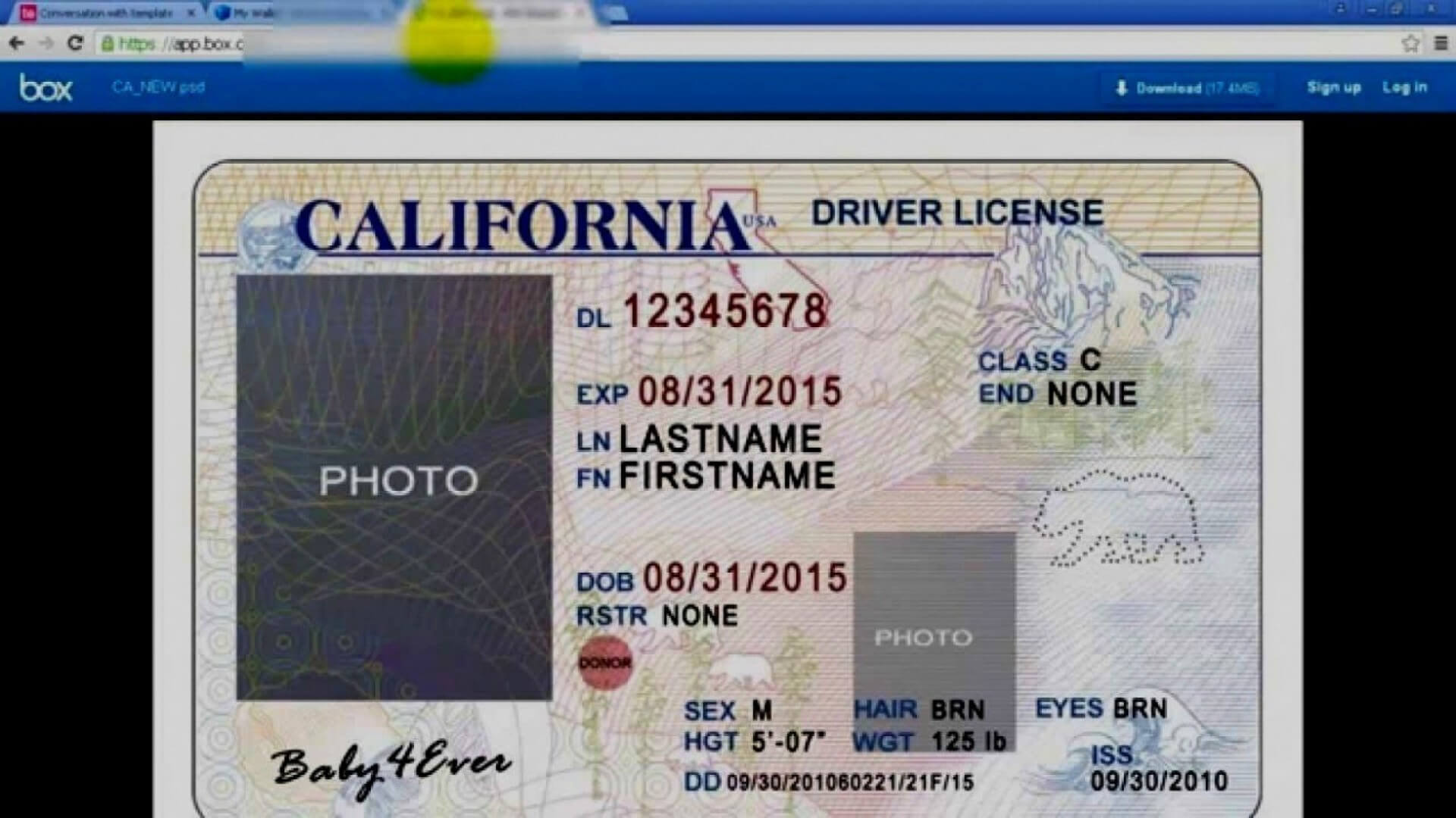 045 Id2Bcard2Btemplate2Bfront Blank Id Card Template Psd With Regard To Blank Drivers License Template