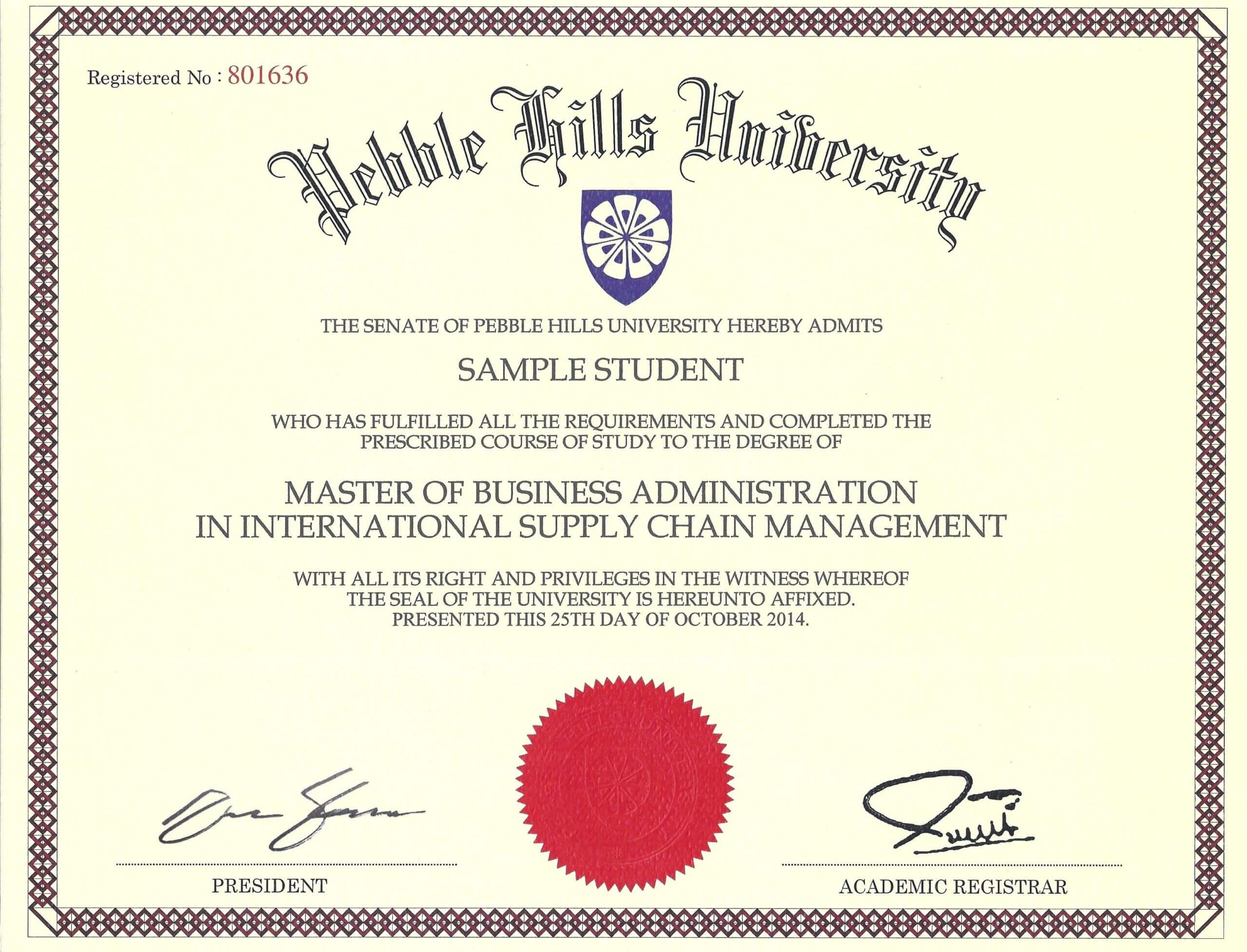 049 Free Printable Diploma Template Degree Certificate Blank For Masters Degree Certificate Template
