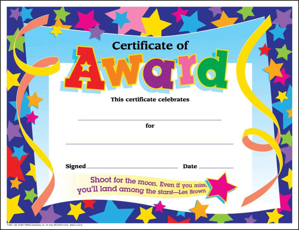 10 Certificates For Kids | Certificate Templates Regarding Classroom Certificates Templates