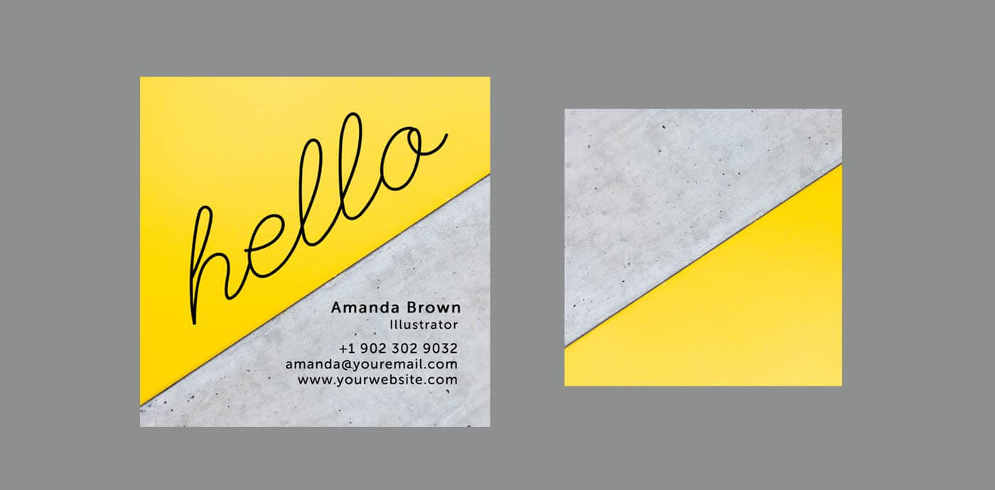 10 Clean & Simple Business Card Templates Perfect For Any Inside Freelance Business Card Template
