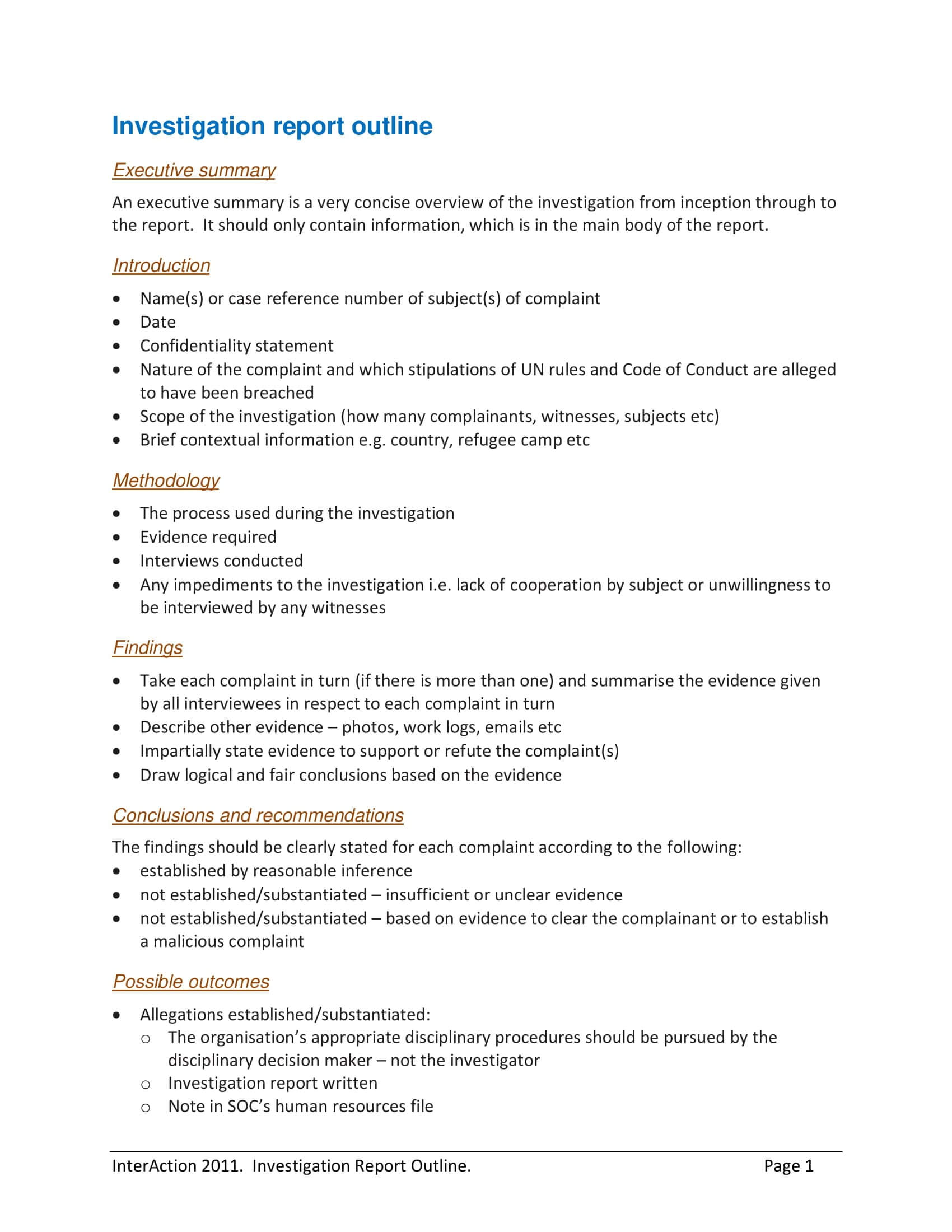 10+ Workplace Investigation Report Examples - Pdf | Examples With Hr Investigation Report Template