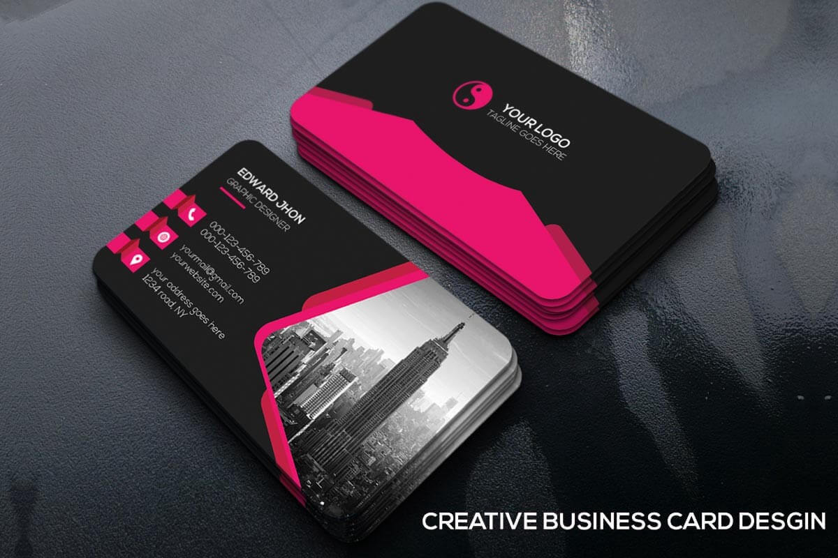 100 + Free Business Cards Templates Psd For 2019 – Syed For Psd Name Card Template