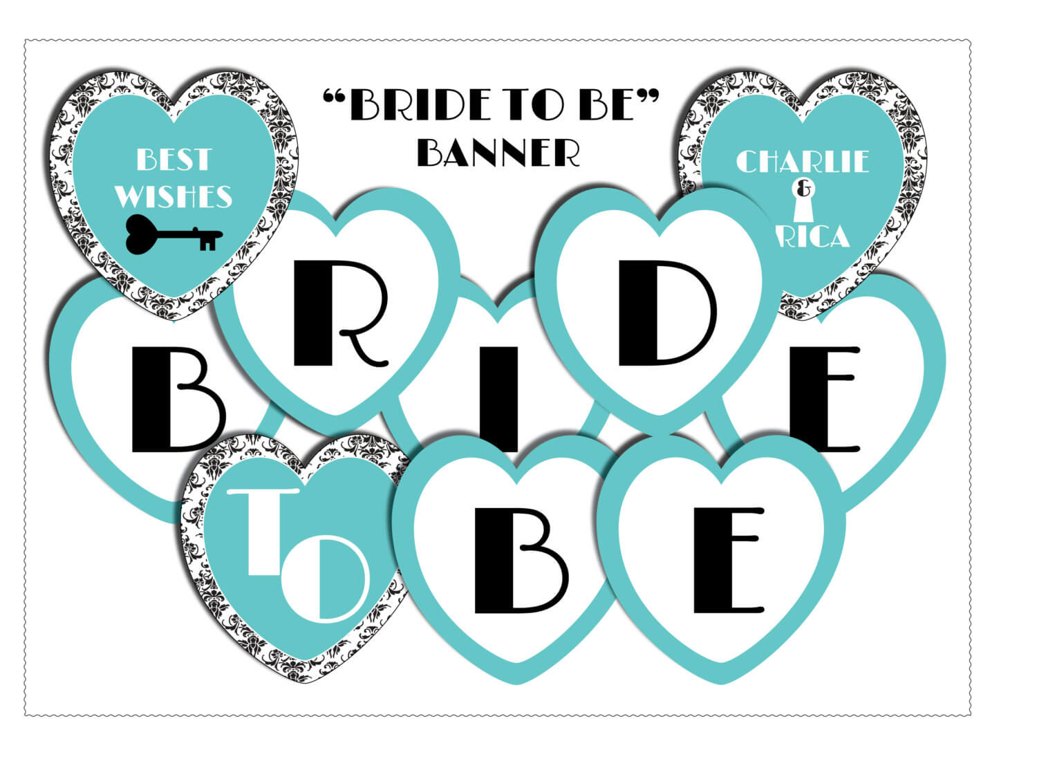 11 Best Photos Of Bride To Be Banner Template – Diy Bridal Intended For Bride To Be Banner Template