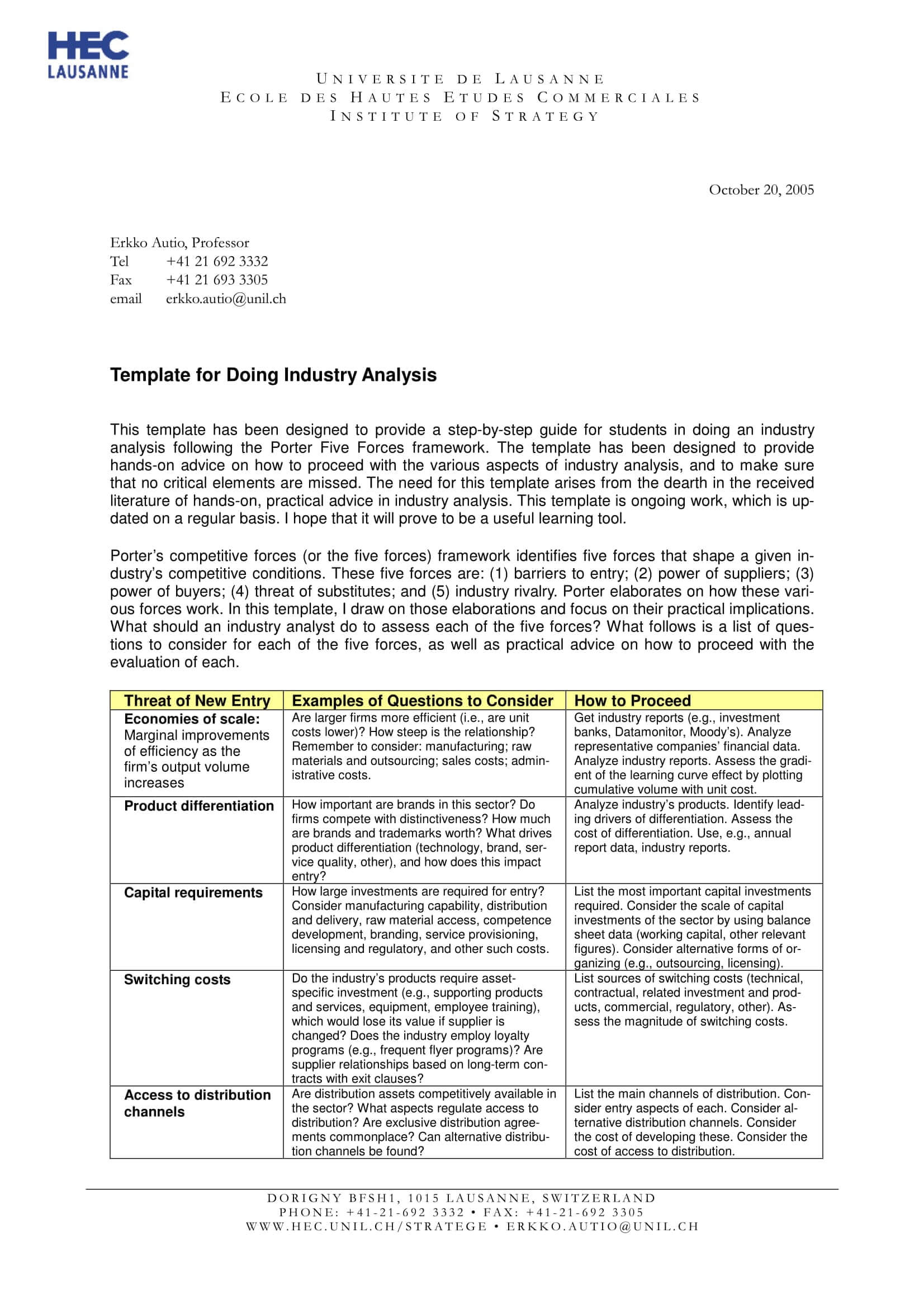11+ Industry Analysis Examples – Pdf | Examples Intended For Industry Analysis Report Template