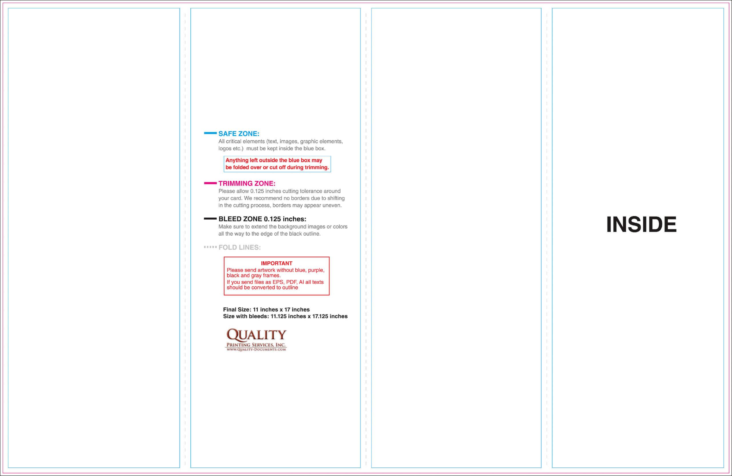11X17 Brochure Templates With Regard To 11X17 Brochure Template