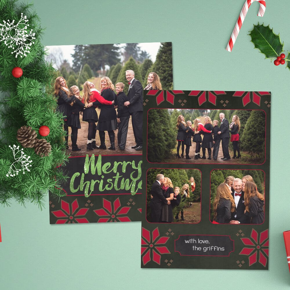 12 Christmas Card Photoshop Templates To Get You Up And Pertaining To Christmas Photo Card Templates Photoshop