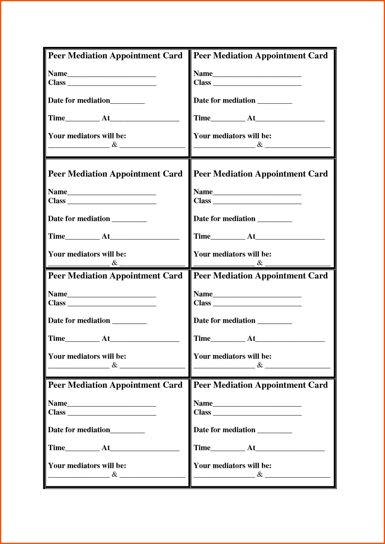 13+ Appointment Cards Template | Survey Template Words With Regard To Appointment Card Template Word