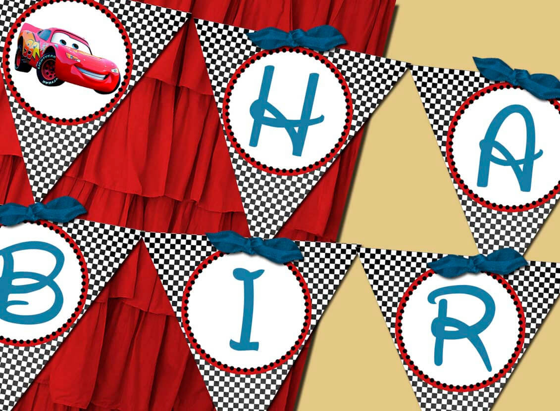 13 Best Photos Of Free Printable Disney Cars Happy Birthday With Cars Birthday Banner Template