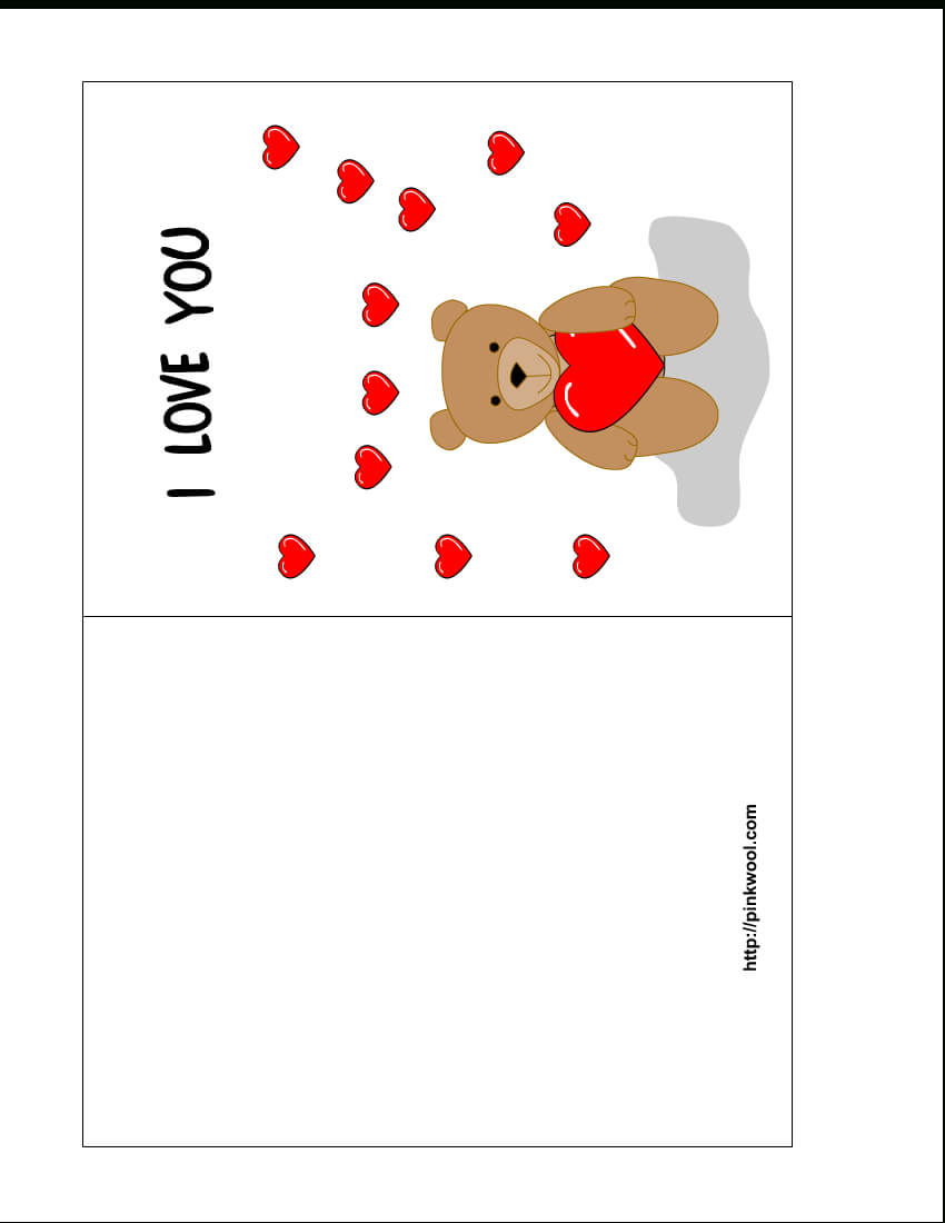 13 Free Card Templates For Printing Images – Valentine's Day Throughout Template For Cards To Print Free
