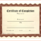 13+ Free Printable Certificate Of Completion | Survey With Regard To Certificate Of Completion Free Template Word