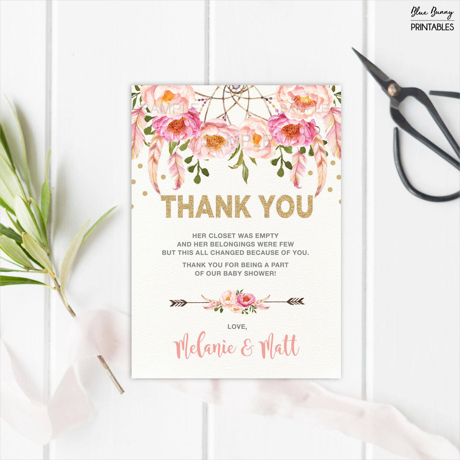 14 Baby Shower Thank You Card Examples Editable Psd Ai Intended For Thank You Card Template For Baby Shower