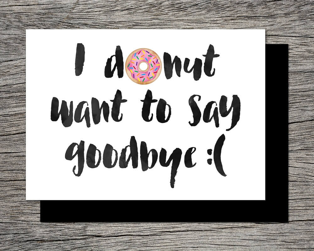 14+ Farewell Card Designs And Examples | Examples In Goodbye Card Template