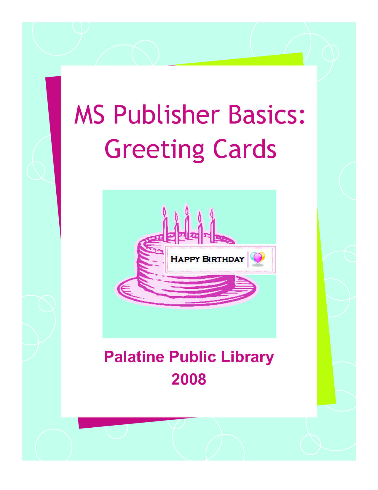 14 Happy Birthday Card Template Publisher Images - Happy Throughout Birthday Card Publisher Template