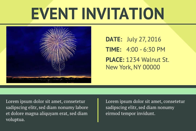 16 Free Invitation Card Templates & Examples - Lucidpress Throughout Event Invitation Card Template
