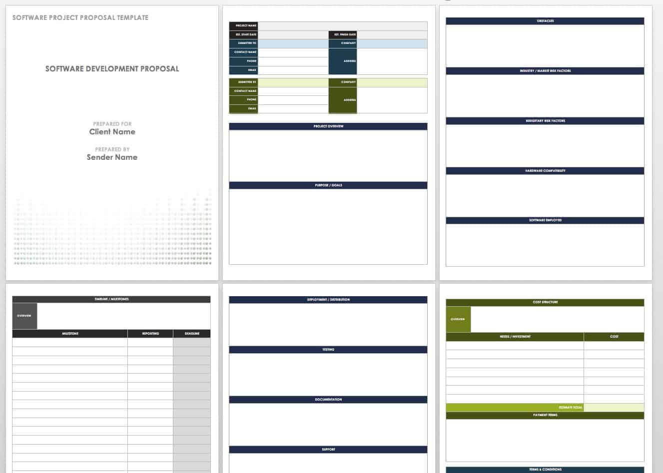 17 Free Project Proposal Templates + Tips   Smartsheet Inside Software Project Proposal Template Word