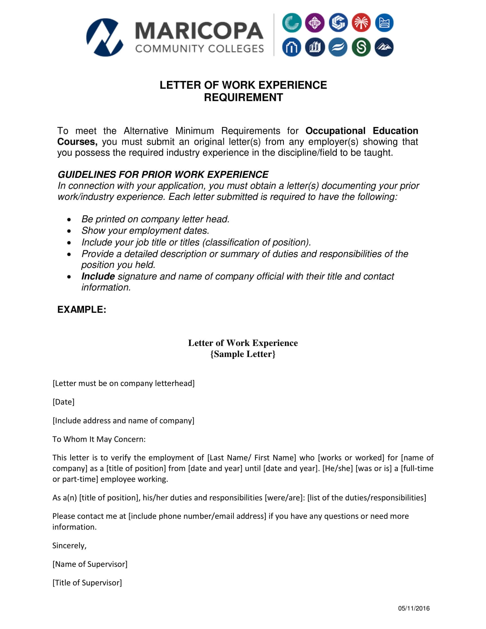 18+ Experience Letter Templates In Pdf | Free & Premium For Certificate Of Experience Template