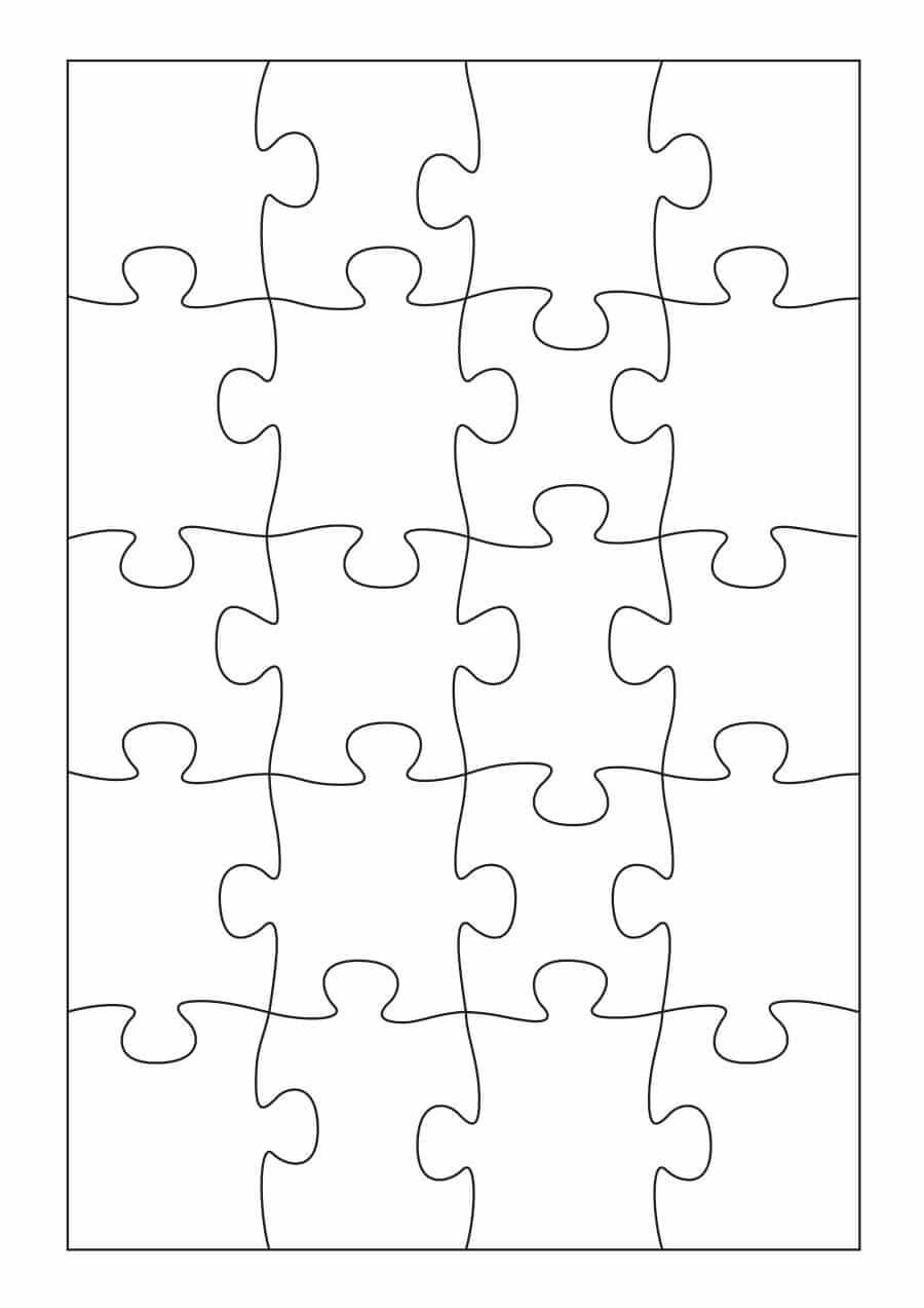 19 Printable Puzzle Piece Templates ᐅ Template Lab In Blank Jigsaw Piece Template