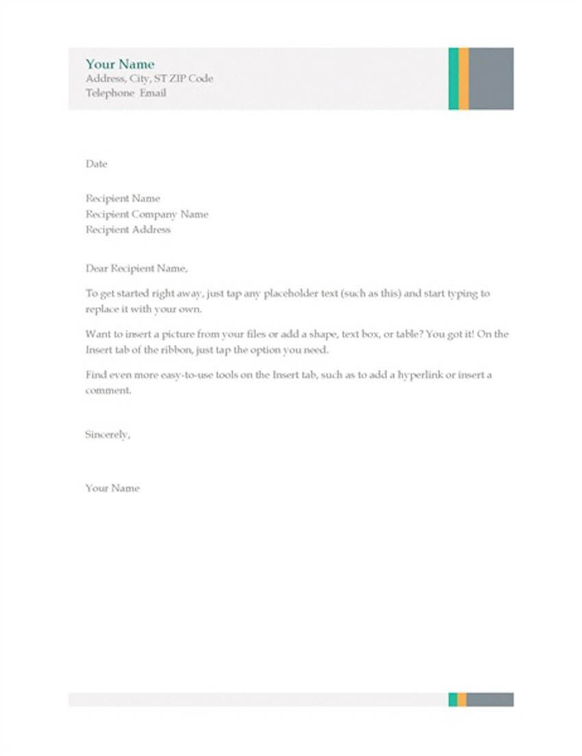 20 Best Free Microsoft Word Corporate Letterhead Templates Within Free Letterhead Templates For Microsoft Word