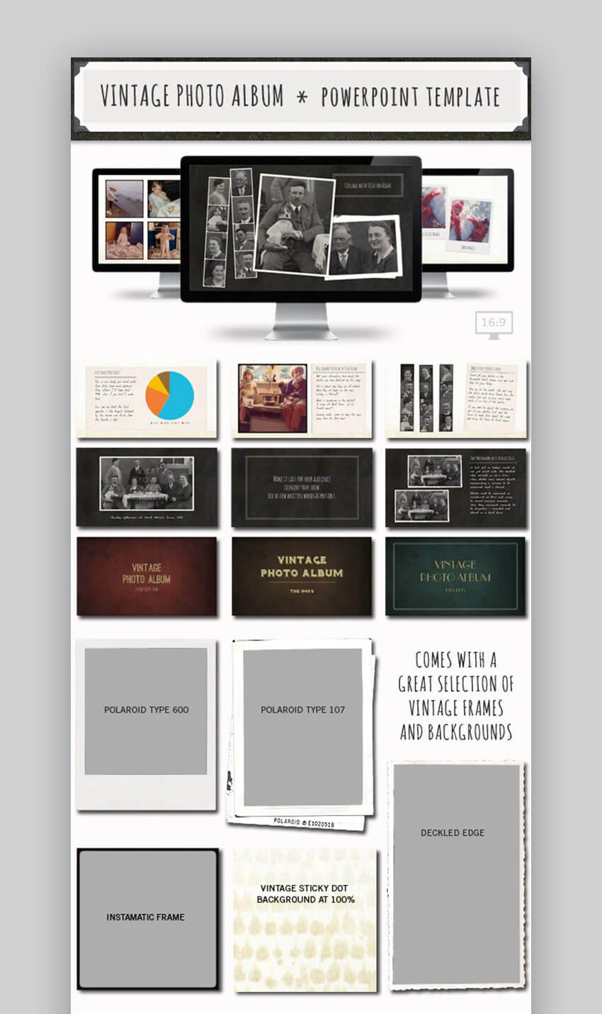 20 Best Free Powerpoint Photo Album & Ppt Slideshow Within Powerpoint Photo Album Template