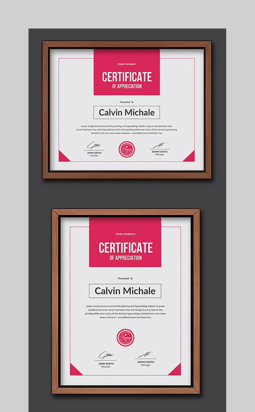 20 Best Word Certificate Template Designs To Award Intended For Free Funny Certificate Templates For Word