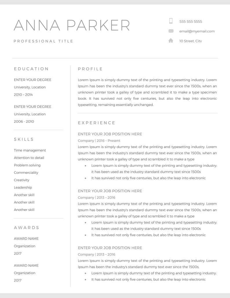20+ Free And Premium Word Resume Templates [Download] Regarding Microsoft Word Resumes Templates