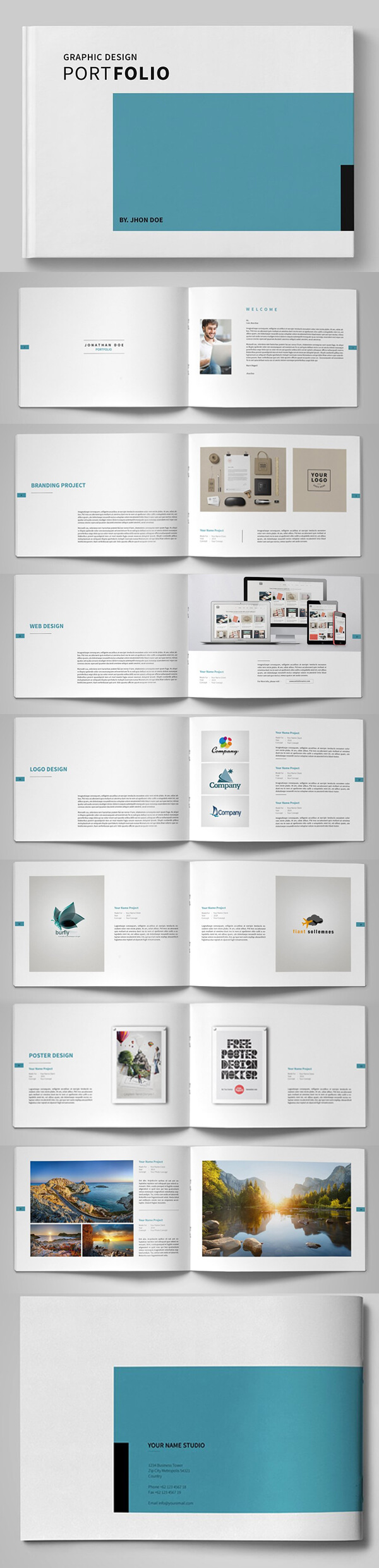 20 New Professional Catalog Brochure Templates | Design Throughout Brochure Template Indesign Free Download