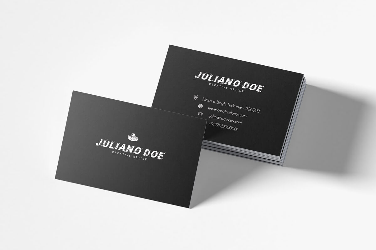 200 Free Business Cards Psd Templates – Creativetacos Intended For Psd Name Card Template