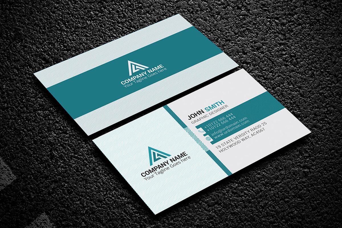 200 Free Business Cards Psd Templates - Creativetacos Regarding Name Card Design Template Psd