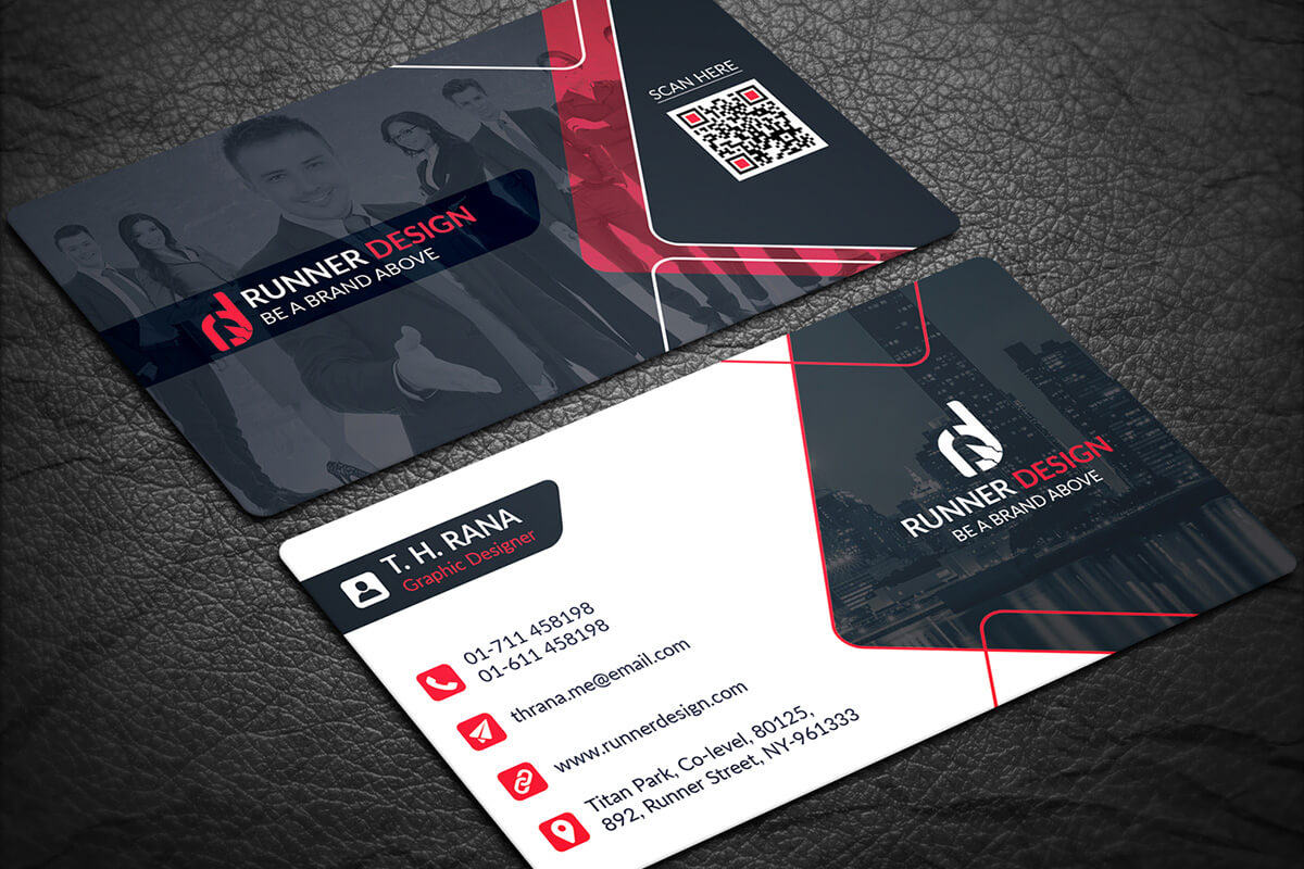 200 Free Business Cards Psd Templates - Creativetacos Within Visiting Card Psd Template Free Download